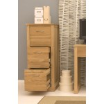 Mobel Oak Two Drawer Filing Cabinet