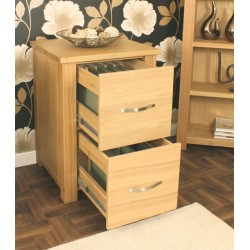 Aston Oak Two Drawer Filing Cabinet