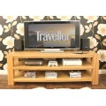 Aston Oak Widescreen Open Television Cabinet