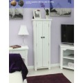 White Solid Ash DVD and CD Cabinet