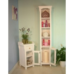 Solid Ash Open Bathroom Unit (Tall)