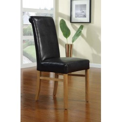 Paris Leather Dining Chair With Oak Legs (PACK OF 2)